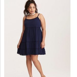 Torrid Blue Tassel Dress